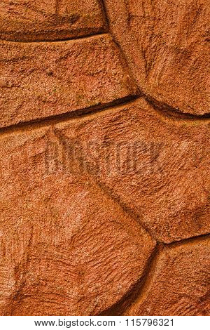 Imaginative Orange Stone / Concrete / Rock Background Texture.