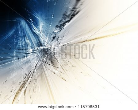 Digital art abstract blue background