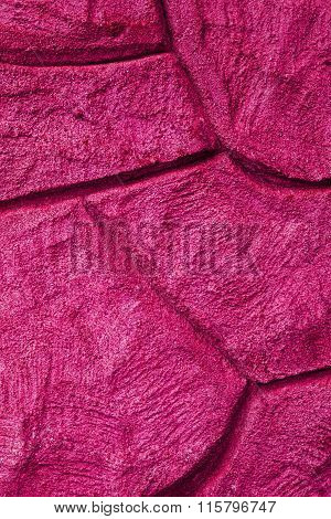 Imaginative Pink Stone / Concrete Background Texture, With Curvy Patterns.