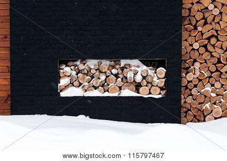 Wood Pile Outside