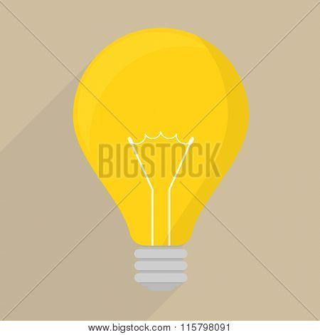 minimalistic illustration of a lightbulb icon, eps10 vector