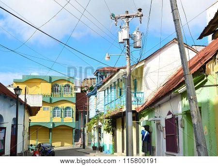 Street In Isla De Flores Guatemala