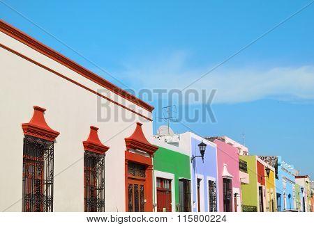 Campeche City In Mexico Colonial Architecture