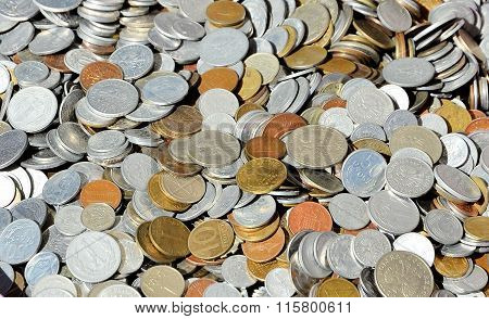Pile of old coins