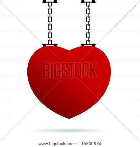 Heart On Chain Illustration
