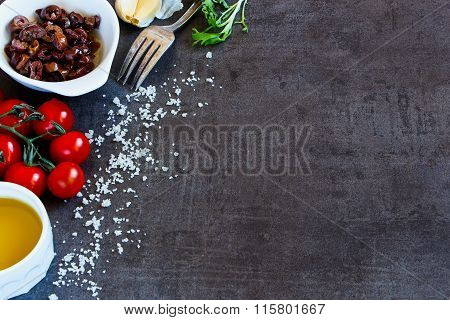 Salad Preparation Background