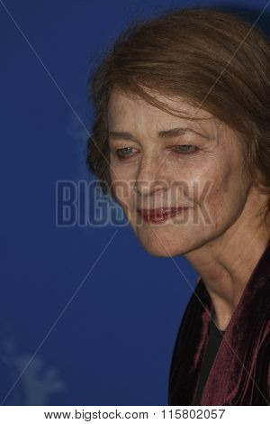 BERLIN, GERMANY - FEBRUARY 12: Actress Charlotte Rampling attends the 'I, Anna' Photocall during day four of the 62nd Berlin Film Festival at the Grand Hyatt on February 12, 2012 in Berlin, Germany