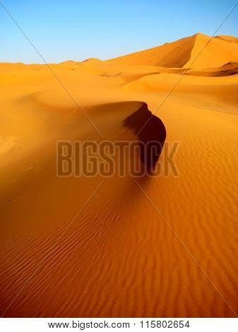 The dune with a wavy surface (Morocco)