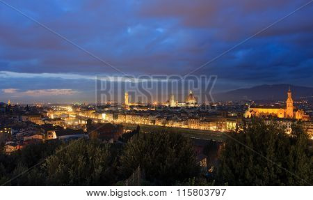 Night Florence Top View (italy).