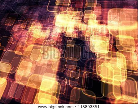 Luminous Background With Squares