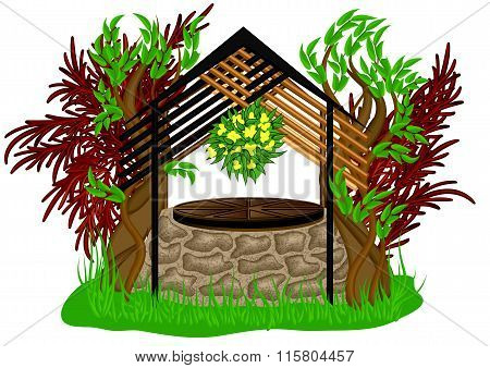 Landscape Design With Wooden Decoration