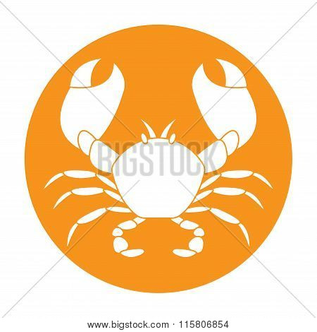 Crab icon. Vector.