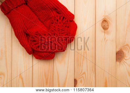 Heart In Hands. Valentines Day Background