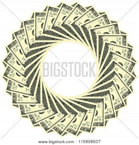 Circular Ornament 100 Dollars