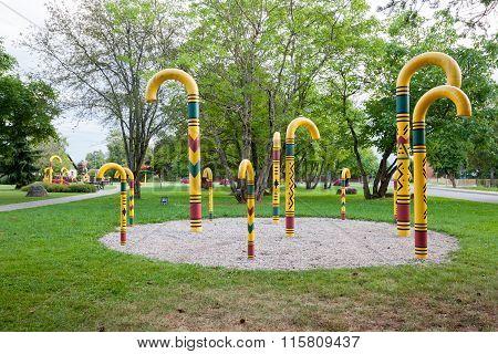 Park Of Walking Stick. Sigulda, Latvia