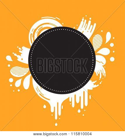 abstract orange and black background with text space