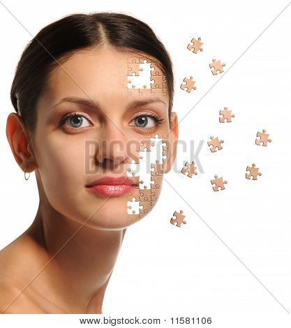 Female Face Close Up And Details Puzzle