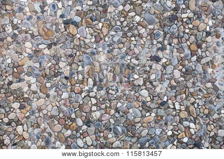Pebble Stones Wall Surface Background
