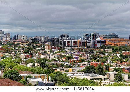 MELBOURNE, AUSTRALIA- DEC 4, 2014: Melbourne city CBD cityscape, Victoria, Australia