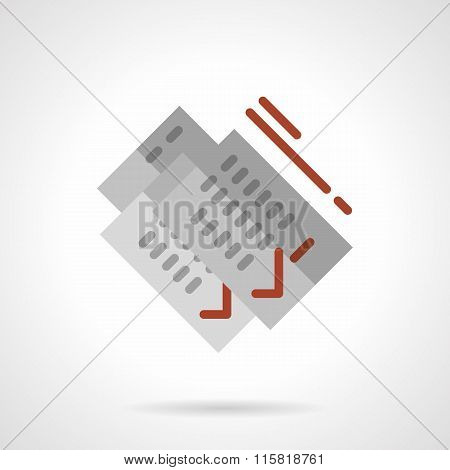 Rental of property vector icon. Signing documents