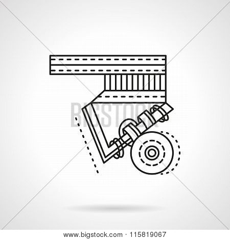 Longboard suspension flat line vector icon.
