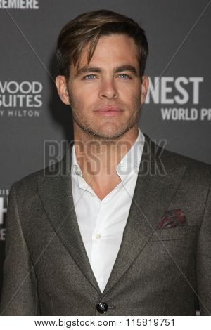 LOS ANGELES - JAN 25:  Chris Pine at the The Finest Hours World Premiere at the TCL Chinese Theater IMAX on January 25, 2016 in Los Angeles, CA