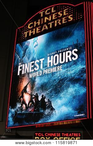 LOS ANGELES - JAN 25:  The Finest Hours Atmosphere at the The Finest Hours World Premiere at the TCL Chinese Theater IMAX on January 25, 2016 in Los Angeles, CA
