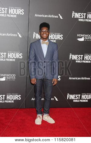 LOS ANGELES - JAN 25:  Kamil McFadden at the The Finest Hours World Premiere at the TCL Chinese Theater IMAX on January 25, 2016 in Los Angeles, CA