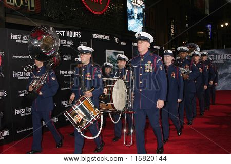LOS ANGELES - JAN 25:  Coast Guard Band at the The Finest Hours Los Angeles Premiere at the TCL Chinese Theater IMAX on January 25, 2016 in Los Angeles, CA