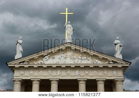 Facade Of Vilnius Cathedral, Lithuania