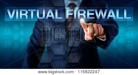 Administrator Touching Virtual Firewall Onscreen