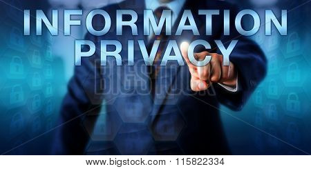 Manager Touching Information Privacy Onscreen