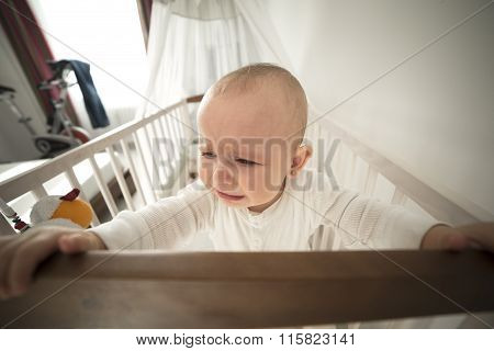 Abandoned Baby In The Crib Crying