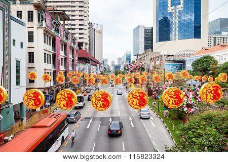 Chinese New Year At Singapore Chinatown