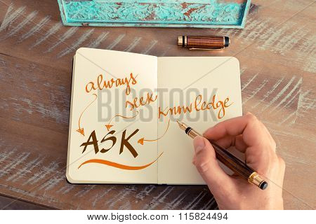 Business Acronym Ask Always Ask Knowledge