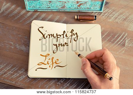Handwritten Text Simplify Your Life
