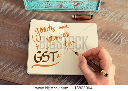 Business Acronym Gst Goods And Services Tax
