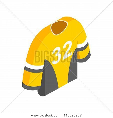 Hockey uniform isometric 3d icon