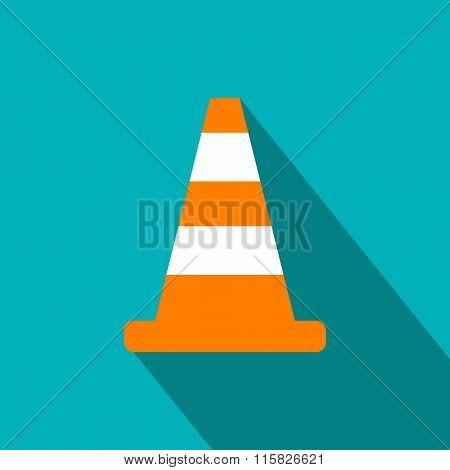 Cone traffic flat icon
