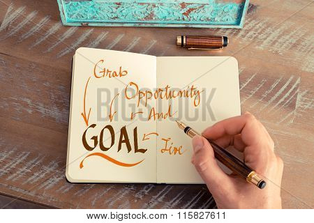 Message Goal Grab Opportunity And Live