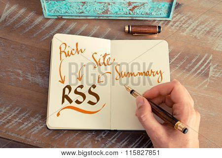 Business Acronym Rss Rich Site Summary