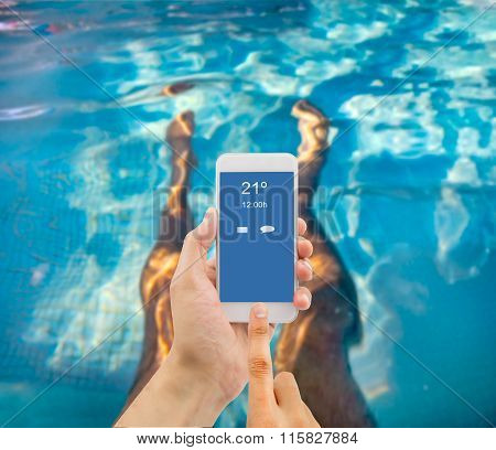 Using The Smartphone At The Spa
