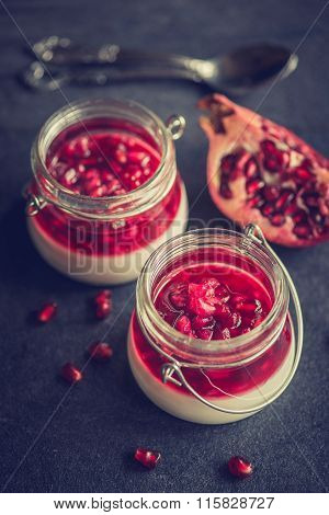 Panna Cotta With Pomegranate