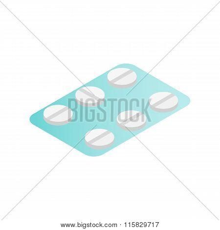 Birth control pills isometric icon