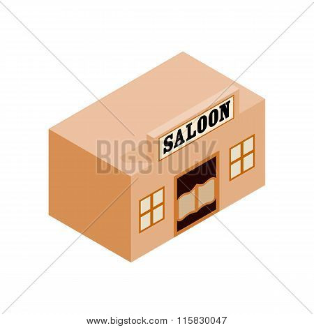 Western saloon isometric 3d icon