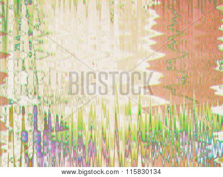 Abstract glitch background in light vibrant colors
