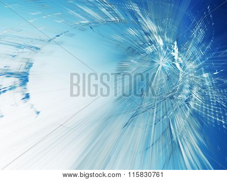 Abstract background. Blue toned image.