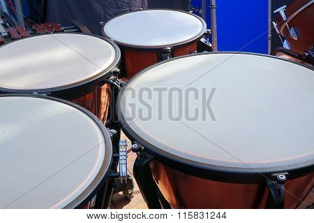Large Copper Kettledrums