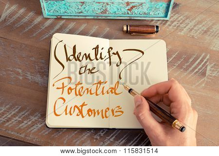 Handwritten Text Identify The Potential Customers