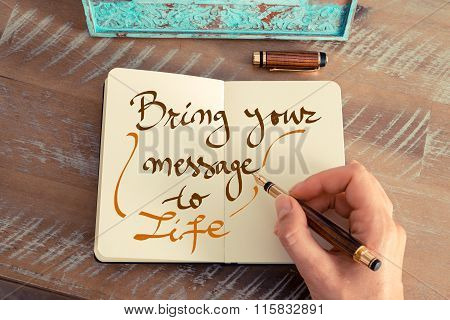 Handwritten Text Bring Your Message To Life